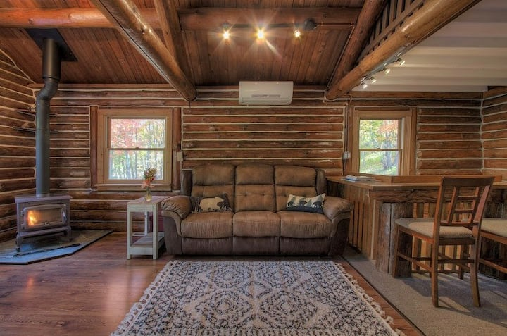 Cozy Log Cabin on 5 Acres Nestled in the Catskills
