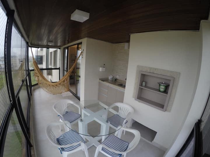 Frente para o Mar, amplo e confortável, 3 quartos