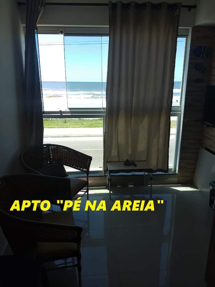 Apartamento Beira Mar Novo Completo pé na areia