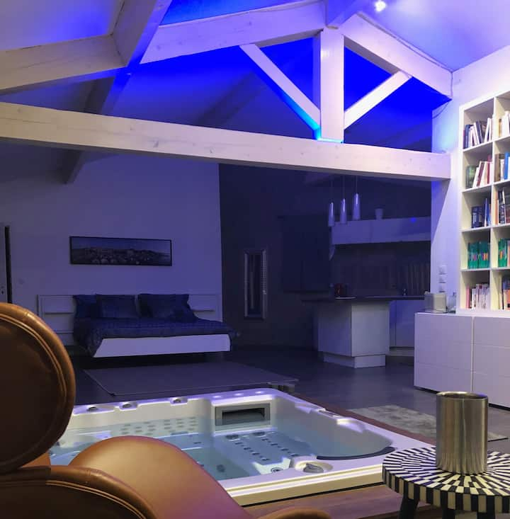 Superbe loft avec jacuzzi privatif à Bouzigues