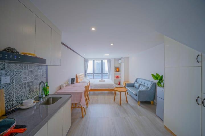 兆阳O立方简美公寓21(可做饭)