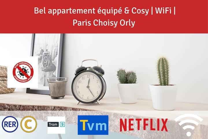 ⭐Bel appartement équipé⭐Paris Choisy Orly⭐Jardin⭐