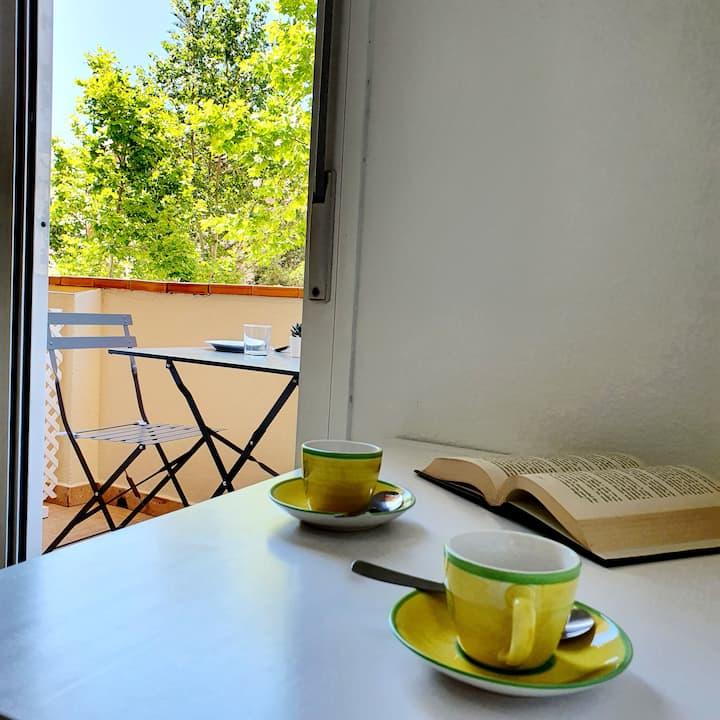 Suite con terraza y baño privada en Fuengirola