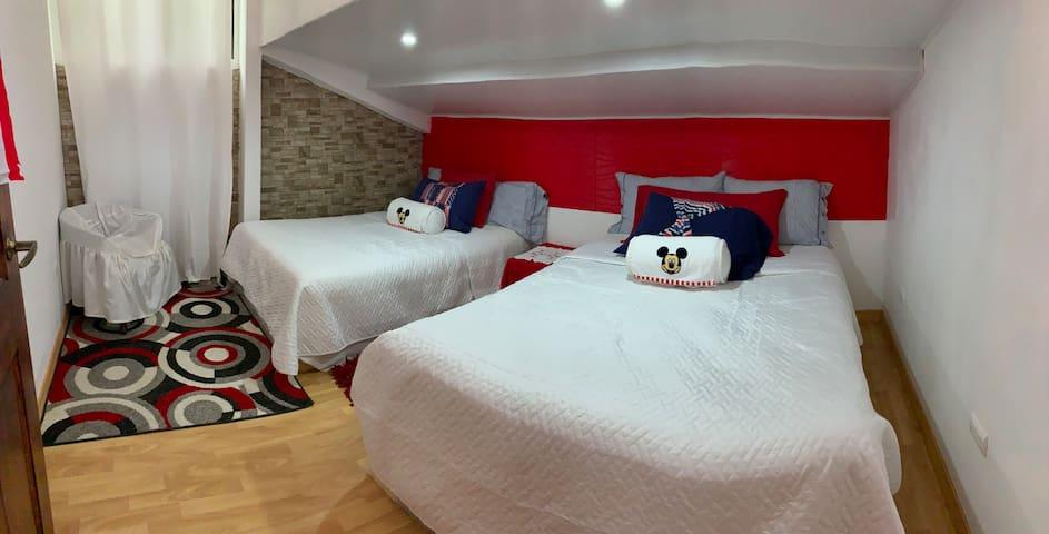 Habitación 3 con dos camas