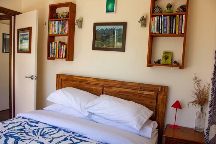 Bedroom #1 in cottage, queen bed.