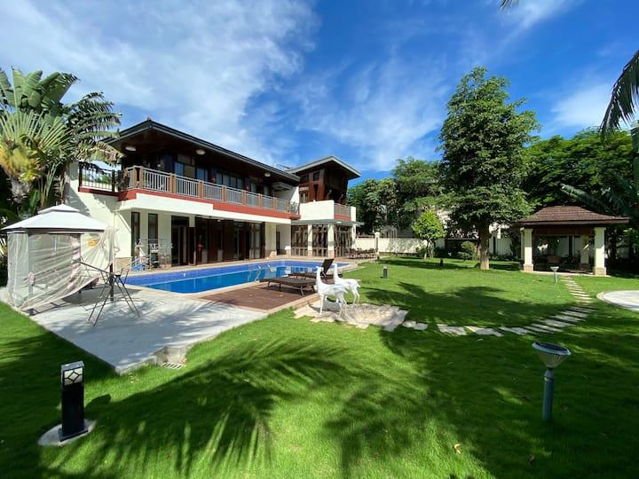 亚龙湾六居超大花园泳池KTV独栋私家庭院别墅