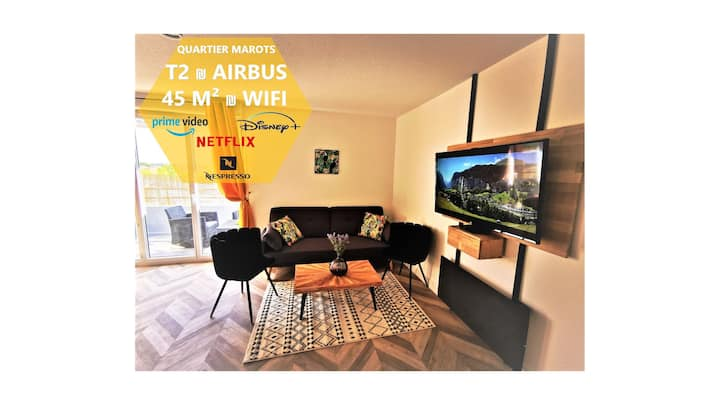 T2 COSY ₪ RESIDENCE SECURISE ₪ AIRBUS ₪ PISCINE