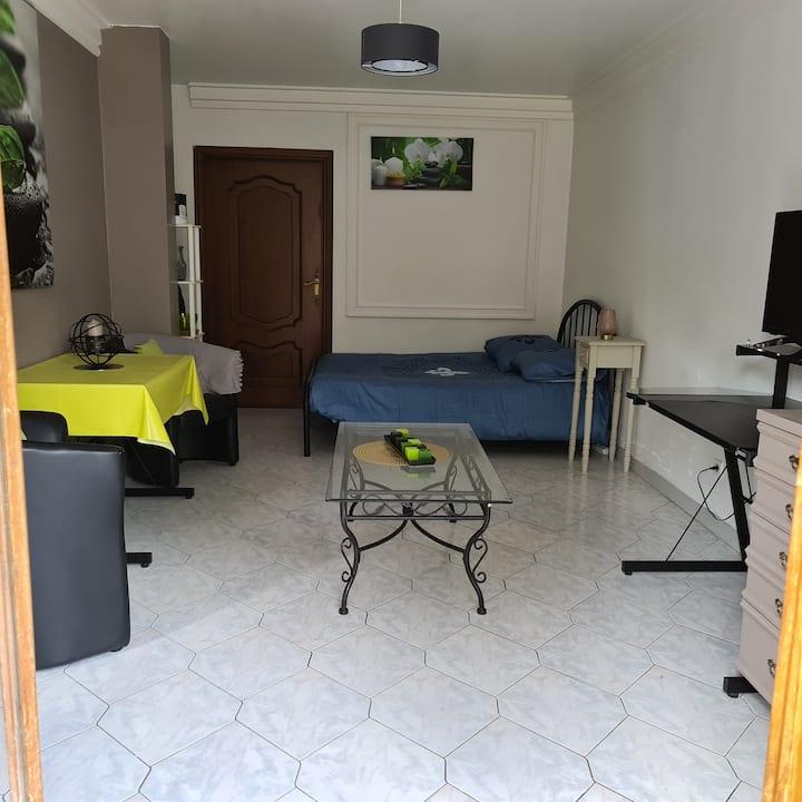 Beau Studio/F1 avec petite terrasse