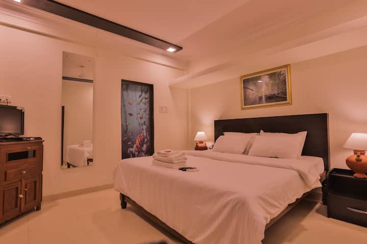 ANJUNA SUITE@BLUE 2 MINUTE WALK TO THE BEACH