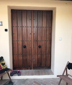 Front door has small step but like gate can be opened very wide if necessary