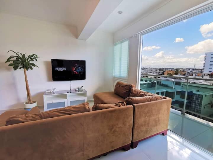 *Stunning City View* 1 BR Apartment Santo Domingo