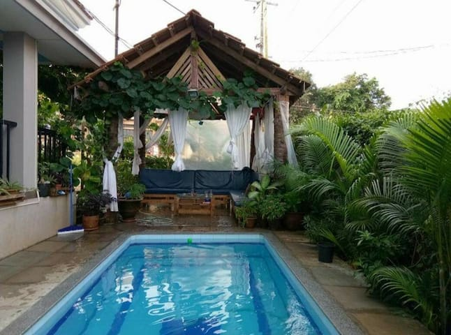 2BHK cozy apartment in a pool villa in Assaga