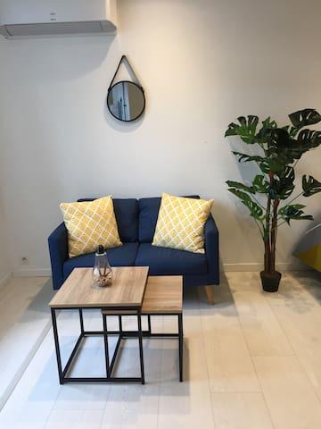Studio Calme, Moderne et Bon emplacement