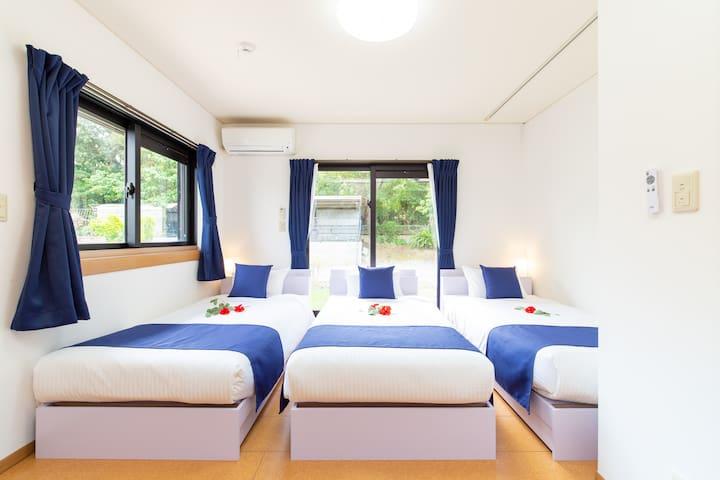 シングルベッド×3