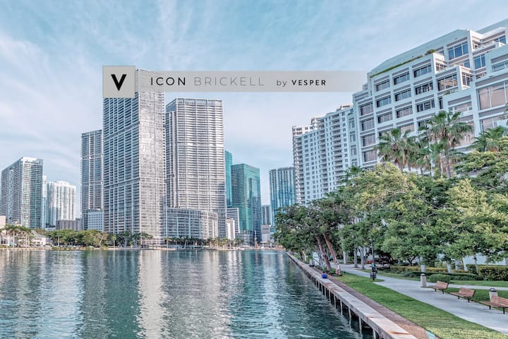 Vesper | ICON Brickell | Oceanic Condo + Pool +SPA