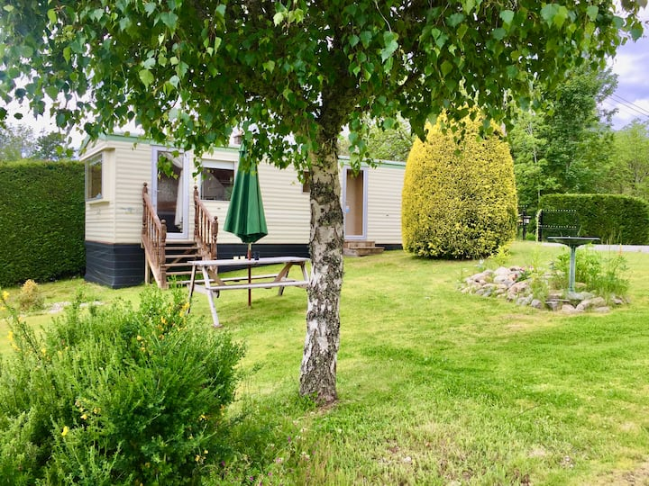 Forest View Caravan at Rose Cottage - Adults Only