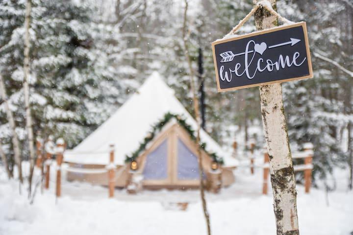 La p'tite fôret, expérience camping hivernal