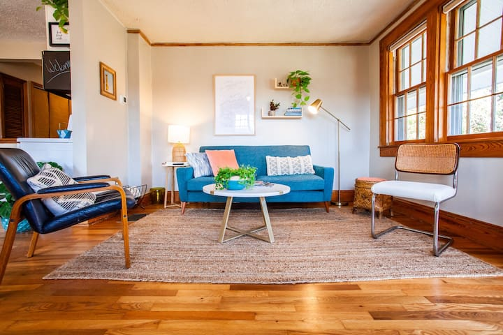 Relax in the vintage-styled living space when you're not out exploring the area.