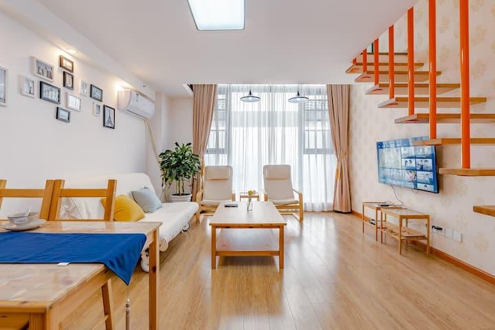 【橙杏稠】Loft|2号线中医大|银杏广场||双床|超大轻奢●一居