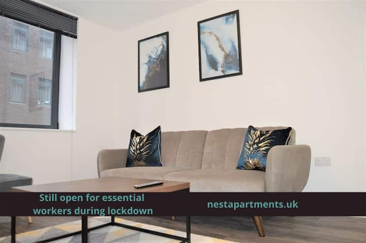 Comfy and modern 2 bed apartment in Sheffield S1