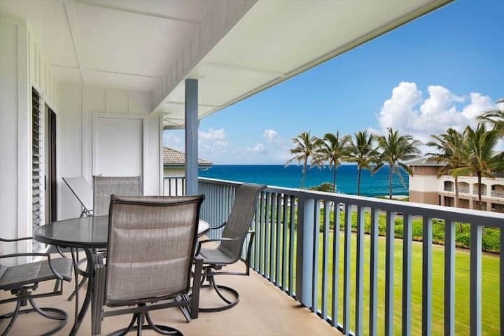 Poipu Sands 434, 2BD Ocean View, AC in Bdrms