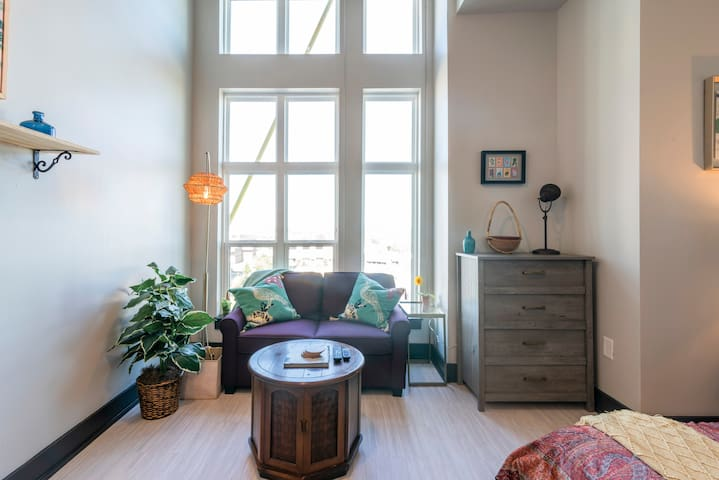 Modern boho design to make your stay memorable.