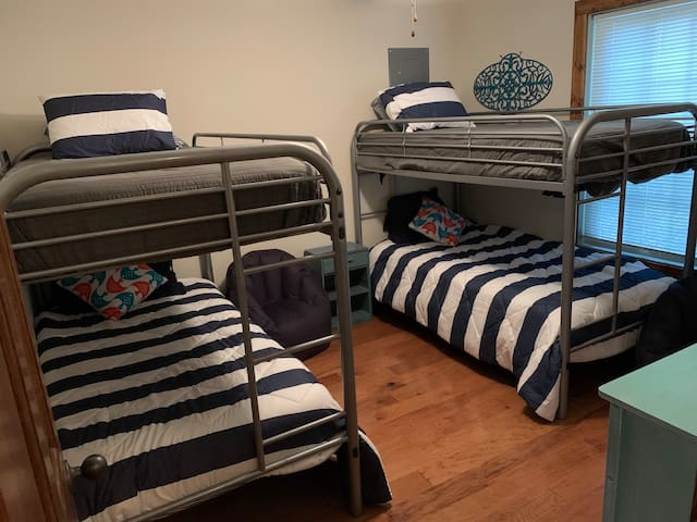The third bedroom offers 2 sets of bunk beds, perfect for 4 guests