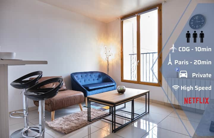 FULL HOME/APPART COMPLET 1-3prs PARKING PARIS, CDG