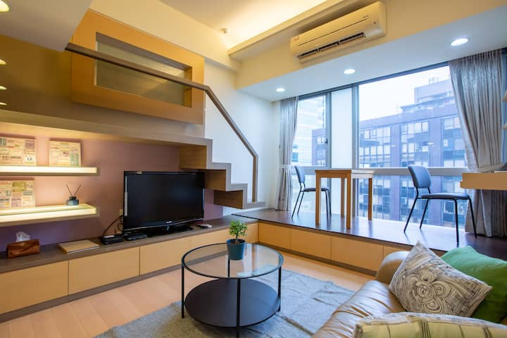 Classic Loft close to Taipei 101