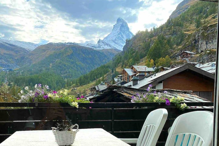 Saxifraga 12 - 4 bed apart. - Top Matterhorn view