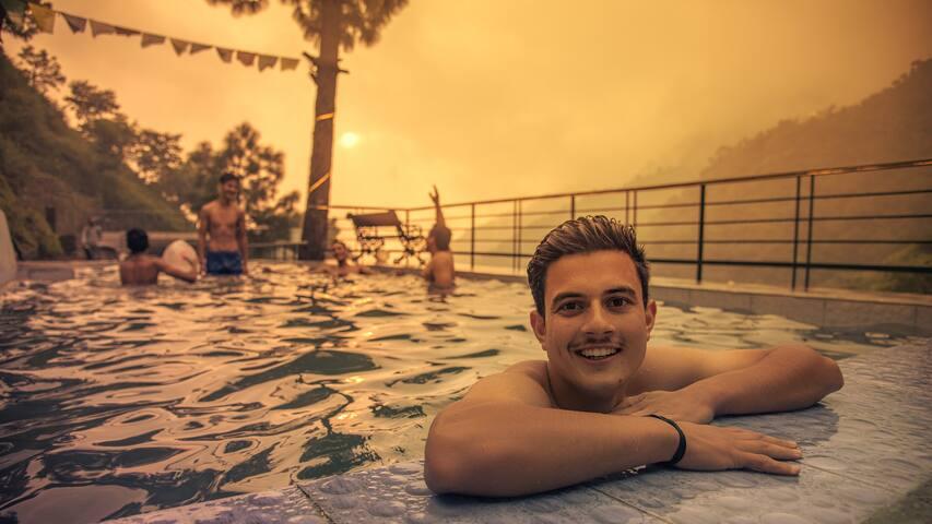 Brookside retreat | Bonfire | Waterfall | Pool