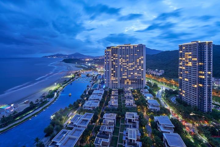 阳江敏捷黄金海岸1.8米双床亲子海景房|红树林|大角湾|天麓山顶公园
