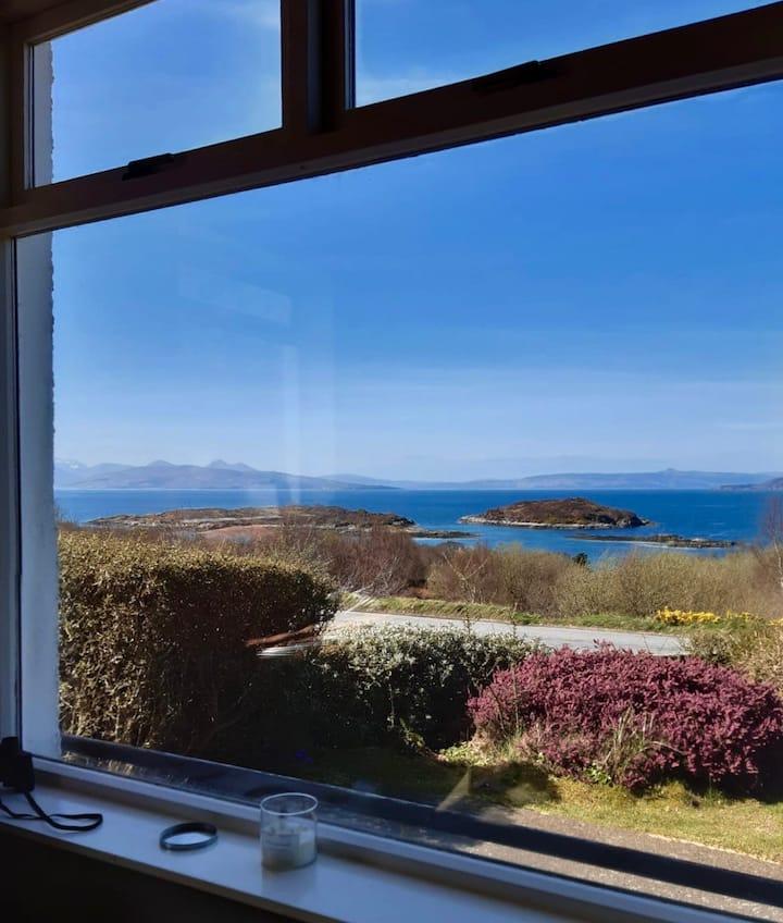 Taravik. Highland retreat. Stunning views of Skye.