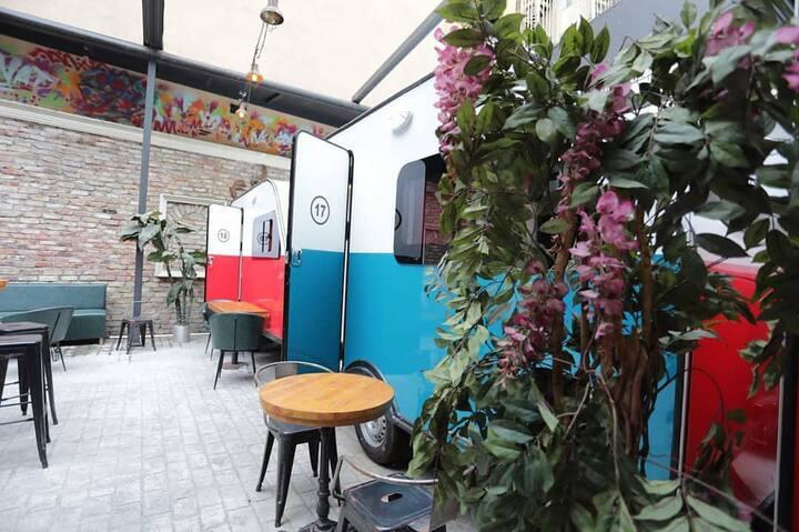 Romantic Caravan Double Bed With Bathroom