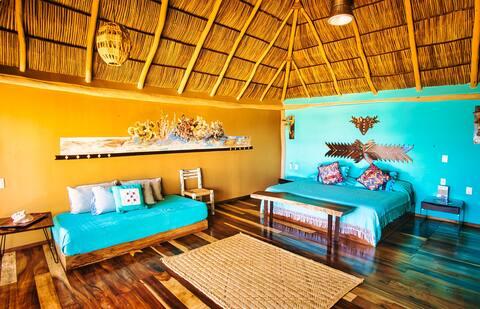 Cabaña frente al Mar, El Grullo Naturista Quimixto