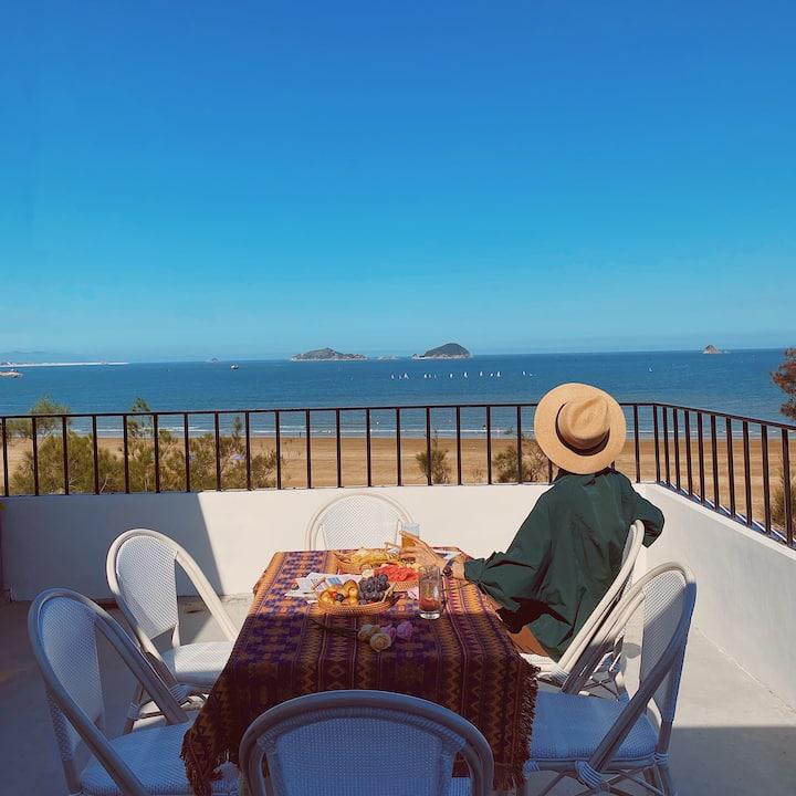 霞浦光语海民宿丨优选海景双床房/距离高罗海滩仅20米/躺在房间看日出/海边的民宿/含三早