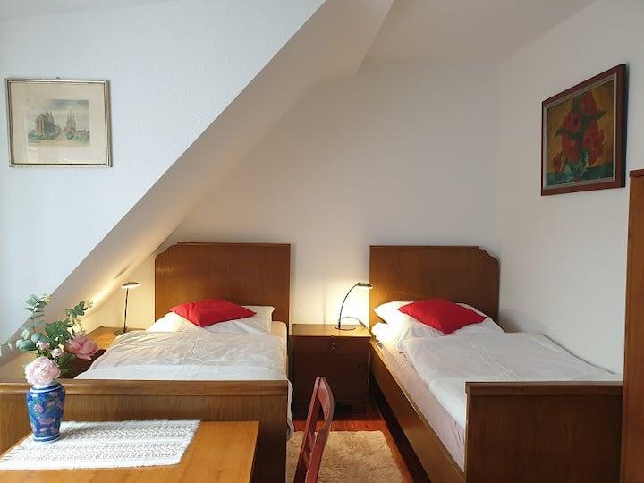 Erfurt OT Zimmer Stadtblick mit Stellplatz