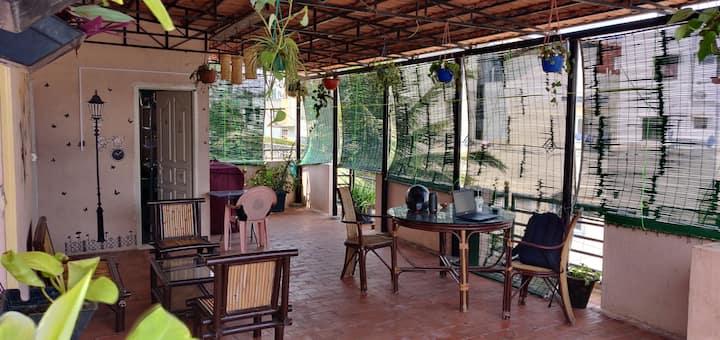 Single Room-Terrace Garden - Kitchen