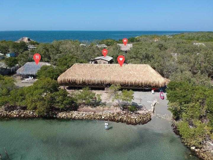 Exotic Beach Villa in a Caribbean private island