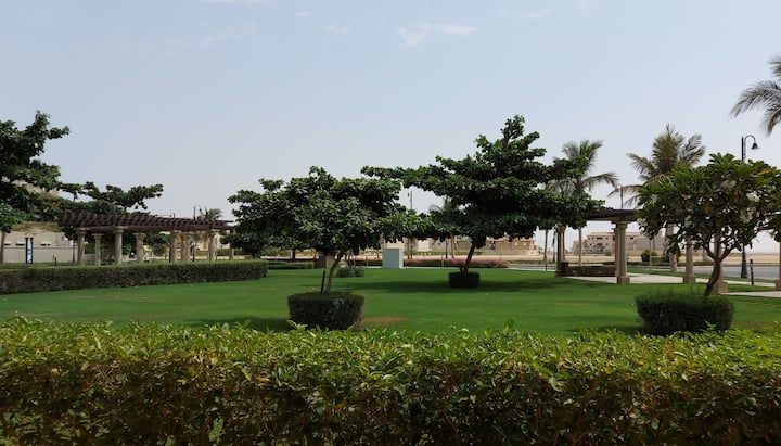 One bedroom apartment garden view at Alwaha