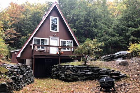 Berkshire A-Frame Chalet! Snowmobilers welcome!!!
