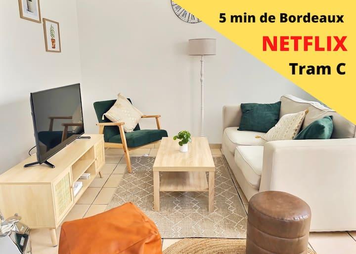 Maison 5min de Bordeaux ★ Bouscat ★ Tram ★ Netflix