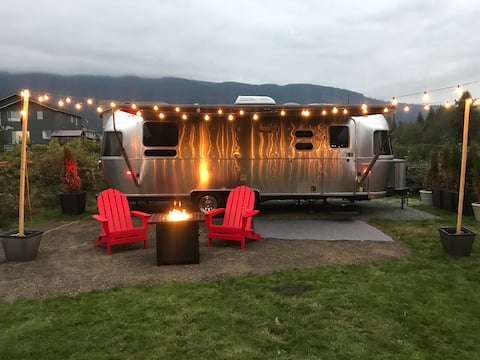 Airstream escape with great mountain views