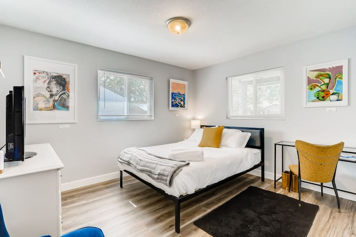 Bedroom 2- its cozy,  modern and ready for you!