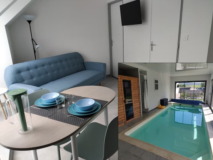 Appartement Choupinerie Normande avec piscine