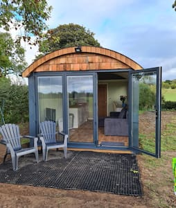 5* modern glamping hut , in a very special place