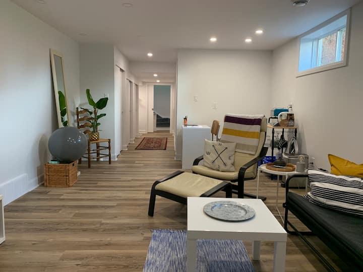 New! Light Filled Basement Suite on Lake Huron