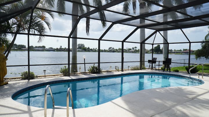 Exceptional Lake View Home, Heated Pool, and More