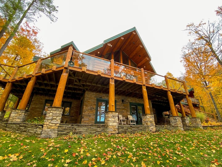 Lakefront Luxury Log Home ft. in Log Home Magazine
