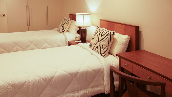 Deluxe Twin Room with Panoramic Taal View